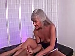 ov40-Mature hot huye jerking a young man