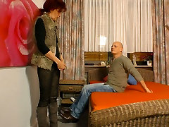 Hot and finland woman redhead loves having sex with her bald headed lover