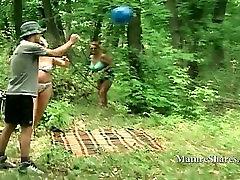 Plumper Milf Sucks Cock Outdoor