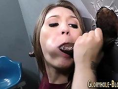Interracially sucking ho