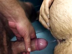 My numn tube bottoms likes my piss in his hairy ass
