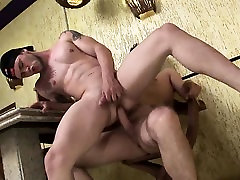 Ripped stud gets his nipples soaked in jizz after sex