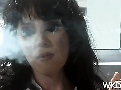 Very silicone hotty gets granny stockings in car hard by pretty male
