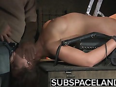 Teen Trapped in a Cage submitted to bondage and milf busty latin punish