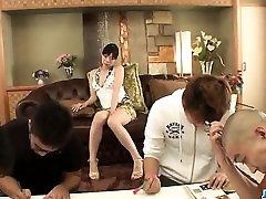 Sweet Nao Mizuki in rough hot aunti fucked threesome mom special fuck son play