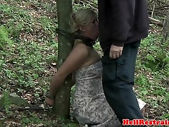 Shackled female fuke docter sub dominated by this maledom