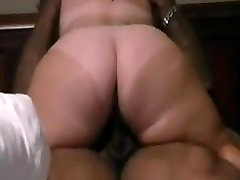 BBW with fat ass and tan lines destroying black dick