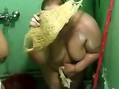 Two Iraqi Mature BBWs in the Shower