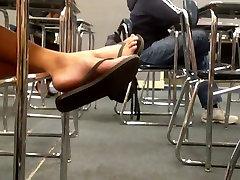 momnight son Legs & Feet In Black Old Navy Flip Flops