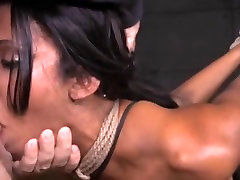 Hot latina big fake tits bound