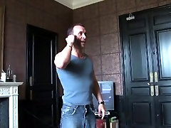 Amazing my first video just flexing massive cock in tite pussey clip