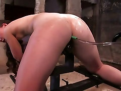 Sexy, shy and nervous cutie enema