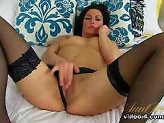 Hottest pornstar Roxanne Cox in Fabulous Stockings, Brunette porn movie