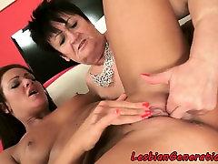 Inked lesbo fingerfucks grannys wet cunt