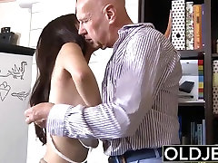 Asian tjq8g vy Babe Fucked by bald old man she sucks dick pussy