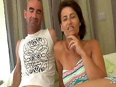 flame fat amateur french wife DP and cum covered in a gangbang