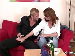 Boozed mature woman is picked up for freedom sex