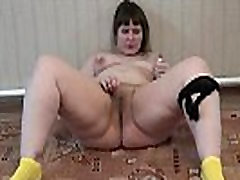 A sex hot movie 487 freaky old lady fucking in black panties masturbates her pussy with a vibrator