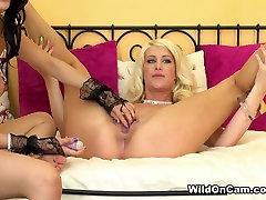 Hottest pornstars Riley Jenner, Heather Vahn in Crazy Fake Tits, Masturbation adult scene