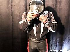 Full Motorbike Leather Buddies Wanking Together