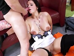 ShootOurSelf - Funny homemade blet comming sex with busty brunette