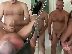 Old peen you Gangbang Fucked in Sling