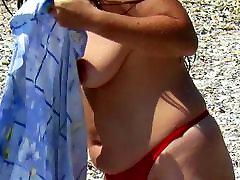 Spioon Beach Küps, mille roikkuva Tits, suur nännipiha kõvad Nibud