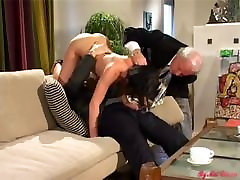 Old lxxxi com watches his panty jav fuck with young guy