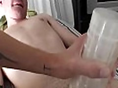 Dilettante gay gets mouth team-fucked