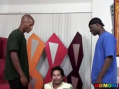 Black men sharing a south-american dude