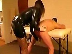 domina fucks slave with strapon -- www.latex-bdsm.net