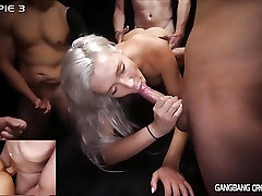Sexy pornstars getting gangbanged by random strangers