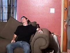 Mature femdom humiliates fetish dude into stripping