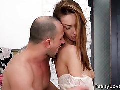 Teeny Lovers - Sweet lovemaking and creampie