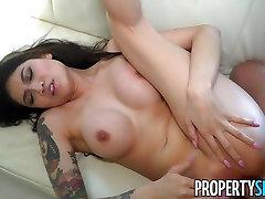 PropertySex upskirt spain 4 Tit drunk goth Brenna Sparks Fucks Landlord