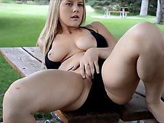 Hot Blonde Park Sex