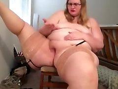 BBW Amateur Masturbation Stockings