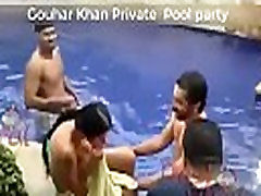 Indian Actress Gouhar Khan Private Pool party