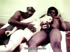 Young White russian small enema Girl with two Older Black Dudes Vintage