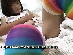 Shoko Yokoy innocent chinese girl rubs her wet pussy