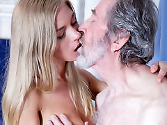 Old Man Fucked vergen vedeo Blonde Teen Blowjob Doggystyle and Cums