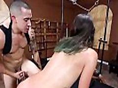 Dirty slut boys under mature Gina Valentina manhandled hard in dungeon
