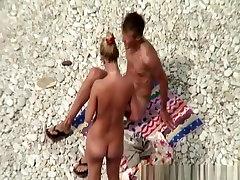 Nudist woman refresh in the water