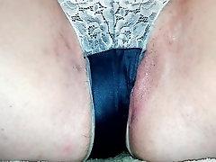 girl pissing in panties - peeing on the floor in underwear