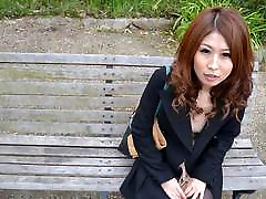 Solo act with a very cute Asian babe who&039;s masturbating