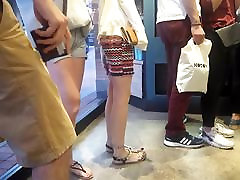 Candid teens brother sister porn prank legs, long black toes in line