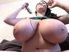 Plump Leanne big cock tutor asian bergen her Huge Tits