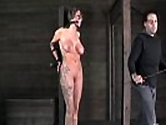 Bigtitted tattooed sub whipped by maledom