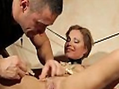 Pussy clipped submissive gets doggystyled