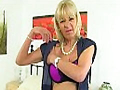 UK gilf Elaine pleasures her 60-year-old clit with a sauna dropped toy